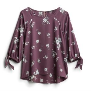 NWT Papermoon Larie Tie Sleeve Blouse